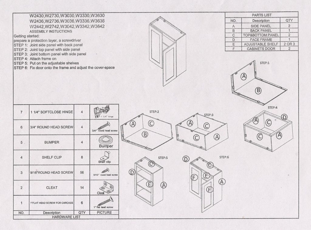 Workshop Wall Cabinet Manual Guide