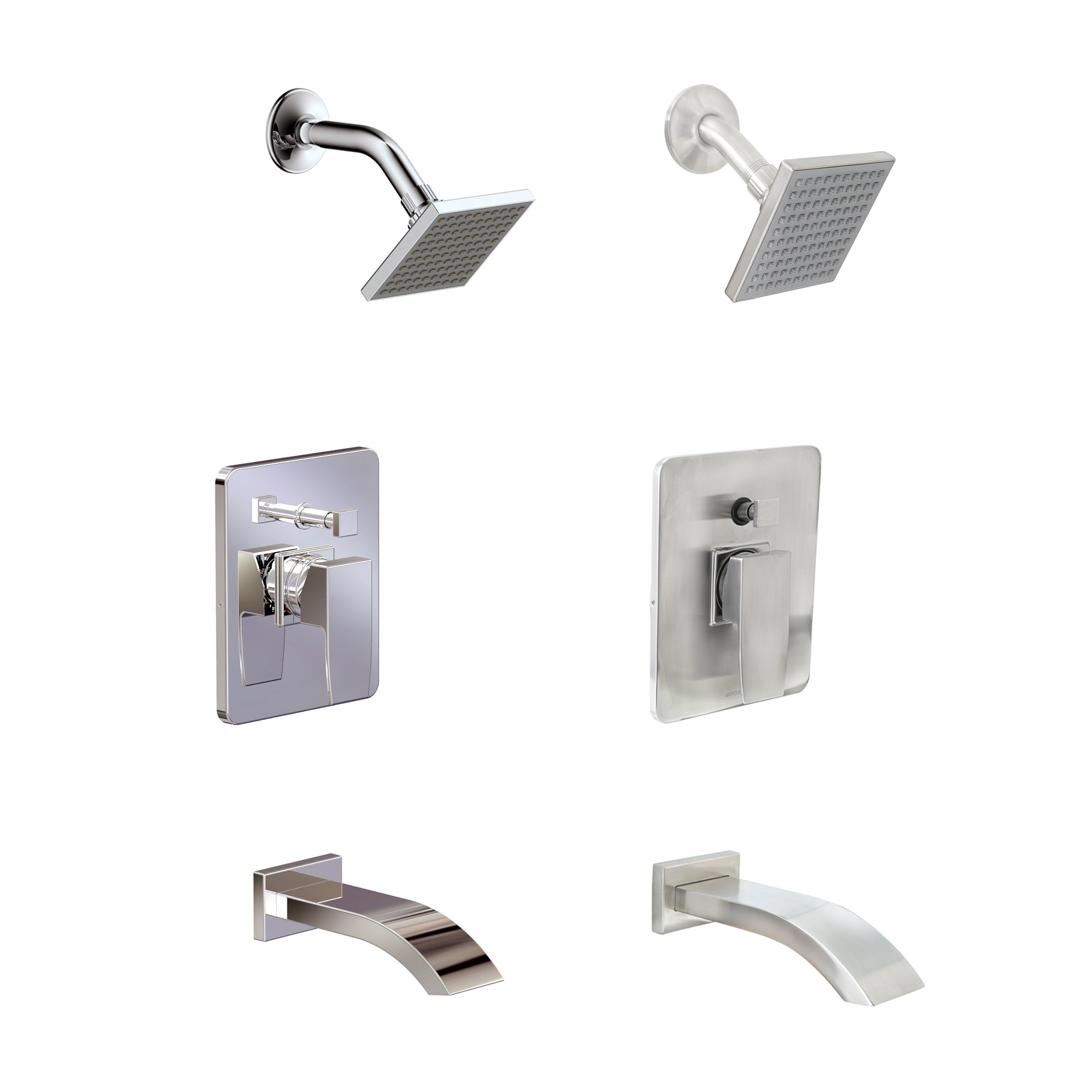 Delonga Brushed Nickel Shower Faucet
